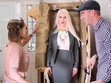 Crummy blonde house maid Alicia Amira fiddles with Danny D's whistle