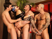 Longhaired Norma Jane wants to watch a porn shoot, and director Rocco Siffredi has a surprise: ...